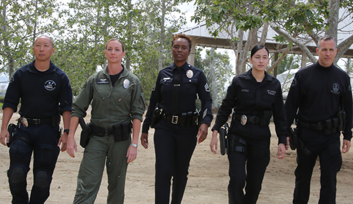 Diverse LAPD Officers, in all different ranks and job function