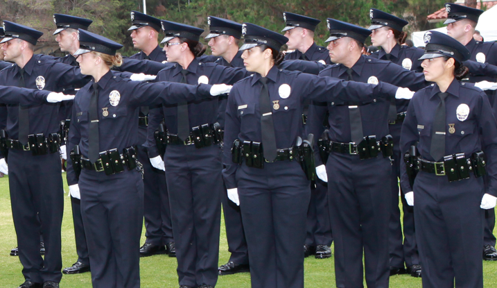 Group Of Graduating Officers In Formation