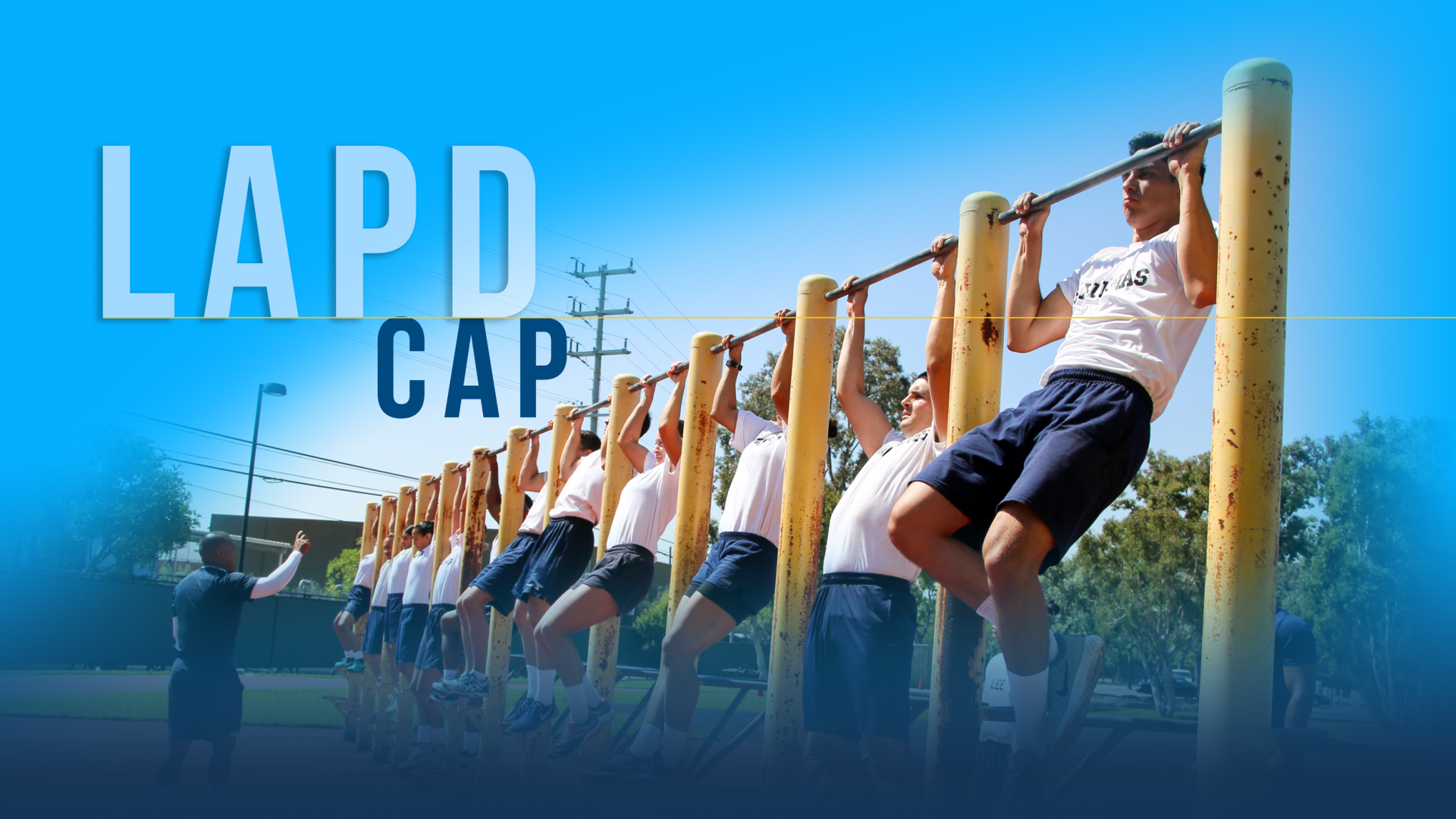 CAPS candidates performing a perfect pull-up